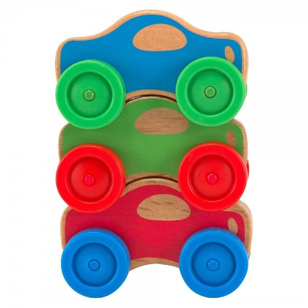 [BLACK FRIDAY] Melissa & Doug Stacking Cars Wooden Baby Toy