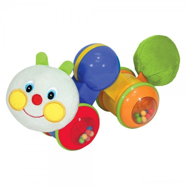[BLACK FRIDAY] Melissa & Doug K's Kids Press and Go Inchworm Baby Toy - Rattles, Clicks, and Self Propels