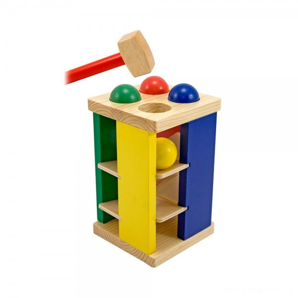 [BLACK FRIDAY] Melissa & Doug Deluxe Pound and Roll Wooden Tower Toy With Hammer