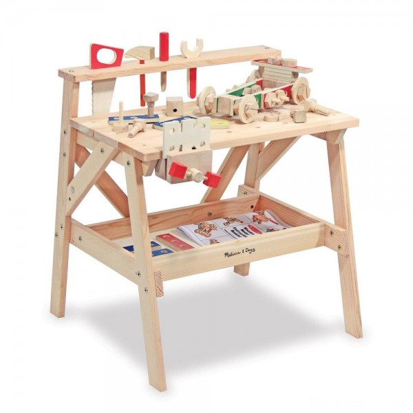 [BLACK FRIDAY] Melissa & Doug Solid Wood Project Workbench Play Building Set