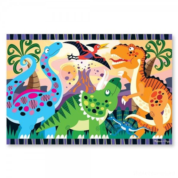 [BLACK FRIDAY] Melissa & Doug Dinosaur Dawn Jumbo Jigsaw Floor Puzzle (24pc, 2 x 3 feet)