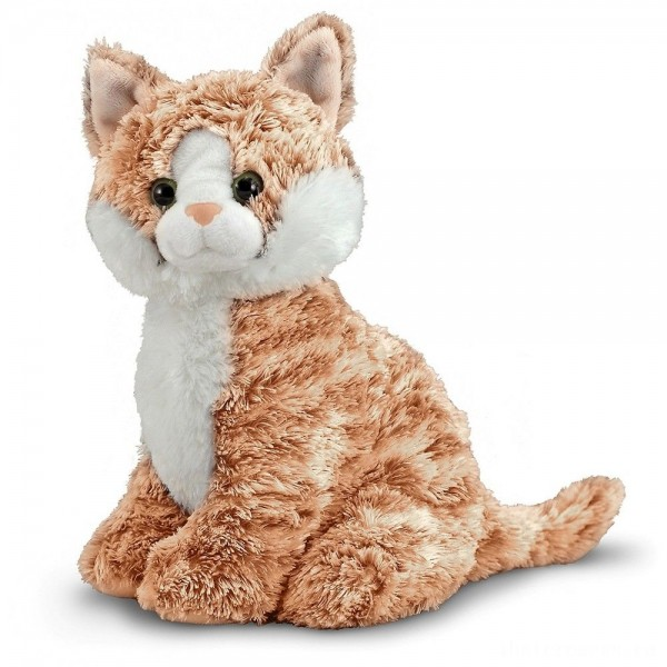 Melissa & Doug Pumpkin Tabby - Stuffed Animal Cat
