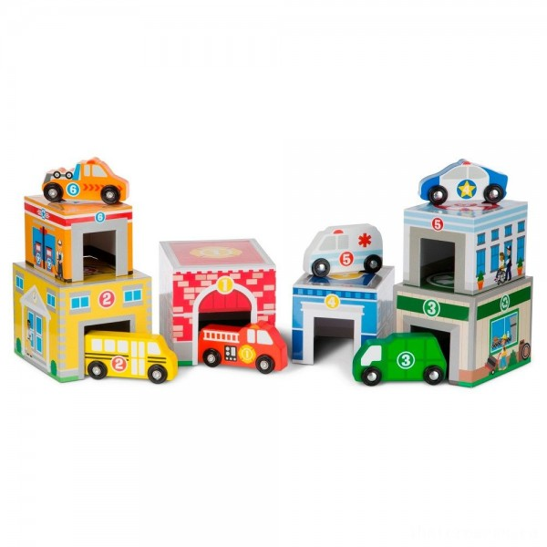 [BLACK FRIDAY] Melissa & Doug Nesting & Sorting Toys - Buildings & Vehicles