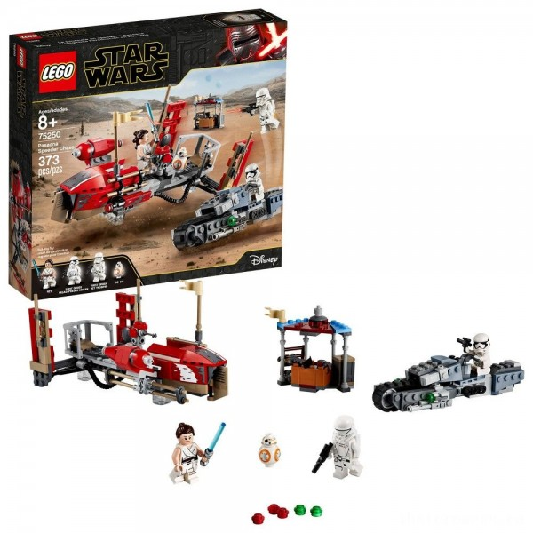 LEGO Star Wars: The Rise of Skywalker Pasaana Speeder Chase 75250 Hovering Transport Speeder Building Kit with Action Figures 373pc [Sale]