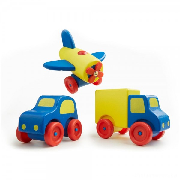 [BLACK FRIDAY] Melissa & Doug Deluxe Wooden First Vehicles Set With Truck, Car, and Airplane