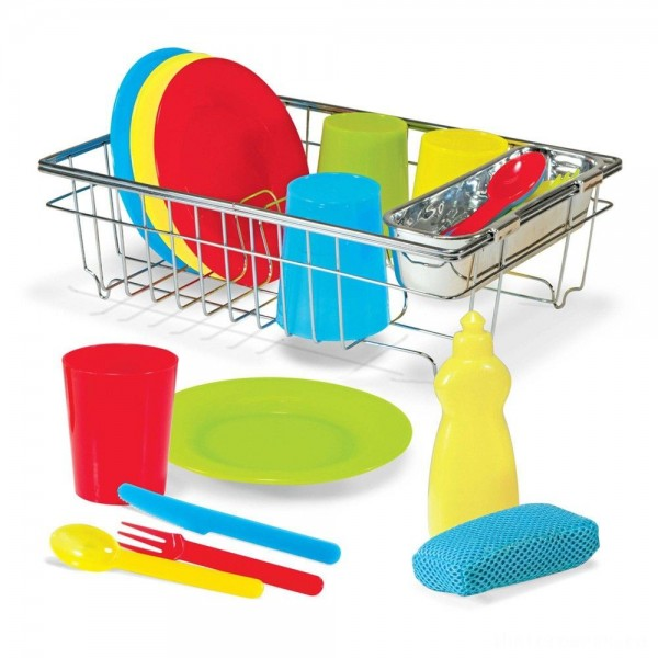 [BLACK FRIDAY] Melissa & Doug Let's Play House Wash and Dry Dish Set (24pc)
