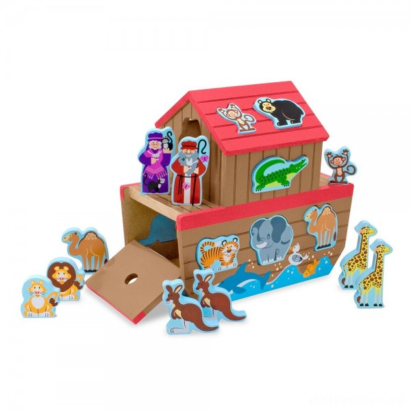[BLACK FRIDAY] Melissa & Doug Noah's Ark Wooden Shape Sorter Educational Toy (28pc)