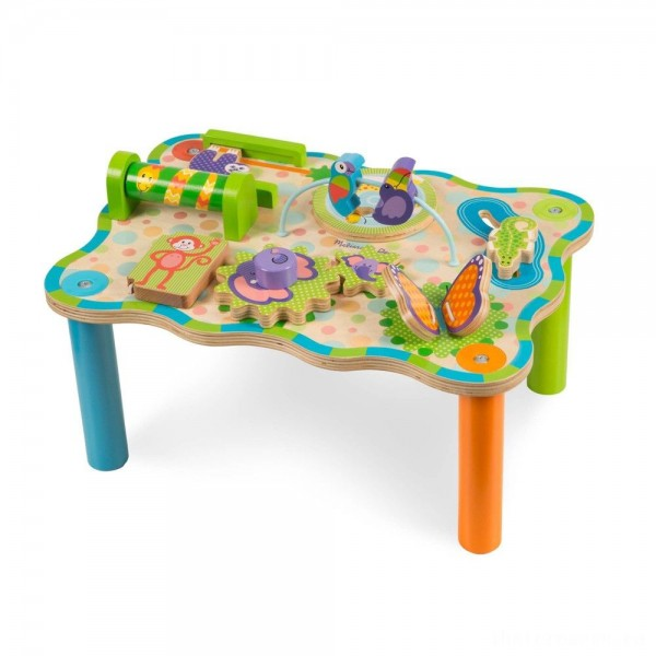 [BLACK FRIDAY] Melissa & Doug First Play Childrens Jungle Wooden Activity Table for Toddlers