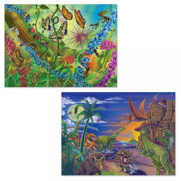 Melissa And Doug Bugs And Dinosaurs Puzzles 120pc