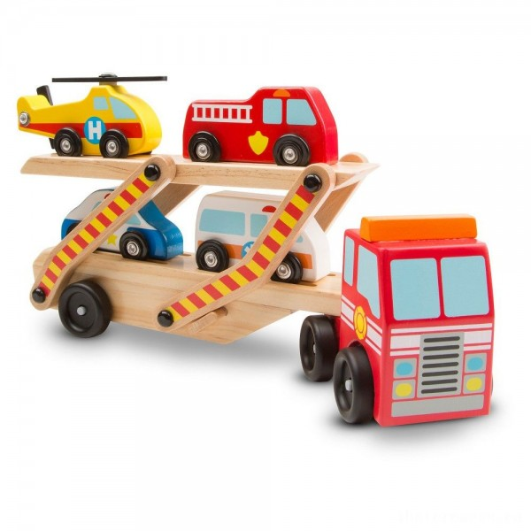 Melissa & Doug Wooden Emergency Vehicle Set of 6
