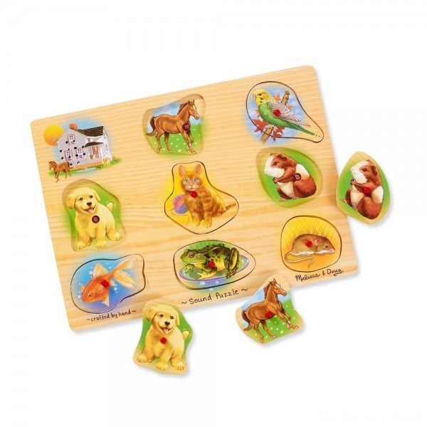 [BLACK FRIDAY] Melissa & Doug Assorted Pets Sound Puzzle Set - 9pc