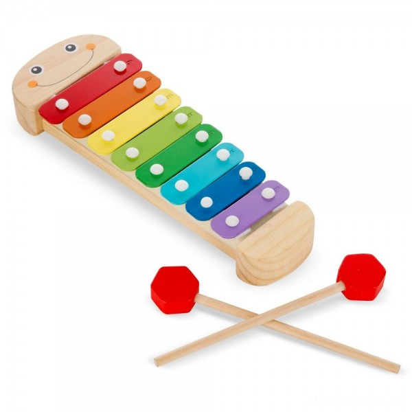 [BLACK FRIDAY] Melissa & Doug Caterpillar Xylophone Musical Toy With Wooden Mallets