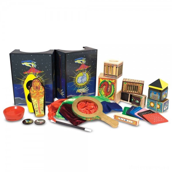 [BLACK FRIDAY] Melissa & Doug Deluxe Solid-Wood Magic Set With 10 Classic Tricks