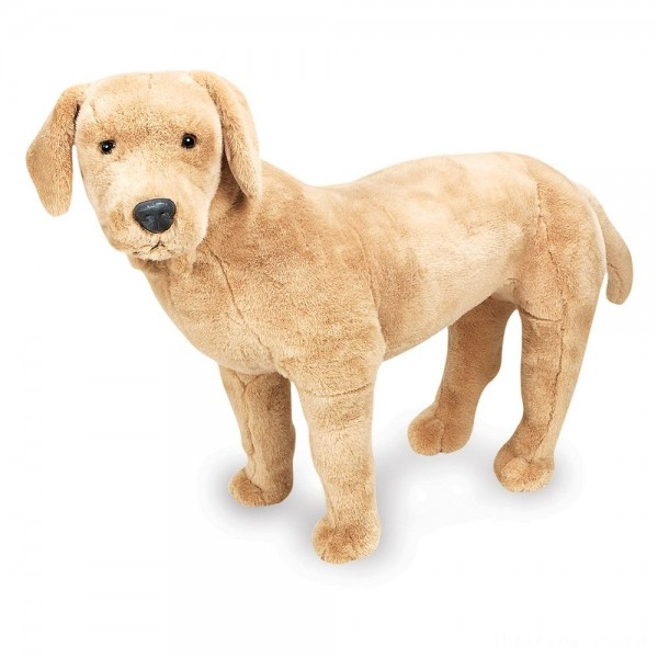 [BLACK FRIDAY] Melissa & Doug Giant Yellow Labrador - Lifelike Stuffed Animal Dog (nearly 2 feet tall)